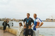 Posing with Bo Hanson for children. Bo won Bronze in the 4- for Australia